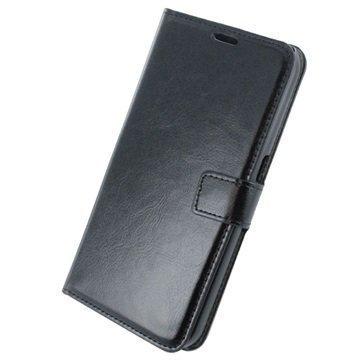 Samsung Galaxy S7 Plus UreParts Uranus Nahkainen Kirjamainen Suojakotelo Musta