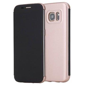 Samsung Galaxy S7 Rock DR. V Series Läppäkotelo Ruusukulta