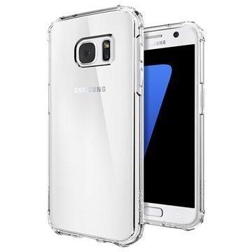 Samsung Galaxy S7 Spigen Crystal Shell Suojakuori Kirkas Kristalli