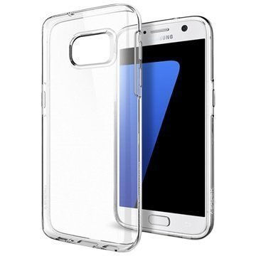 Samsung Galaxy S7 Spigen Liquid Crystal TPU-Kotelo Kirkas