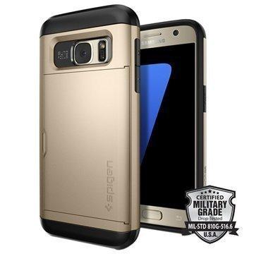 Samsung Galaxy S7 Spigen Slim Armor CS Kotelo Samppanja Kulta