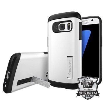 Samsung Galaxy S7 Spigen Slim Armor Suojakuori Himmeänkiiltävä Valkoinen