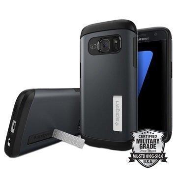 Samsung Galaxy S7 Spigen Slim Armor Suojakuori Liuskekivimetalli