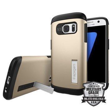 Samsung Galaxy S7 Spigen Slim Armor Suojakuori Samppanjakulta