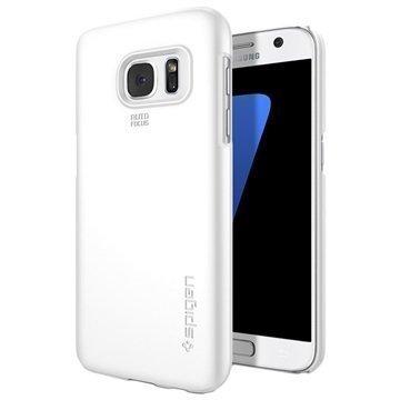 Samsung Galaxy S7 Spigen Thin Fit Kotelo Hohtava Valkoinen