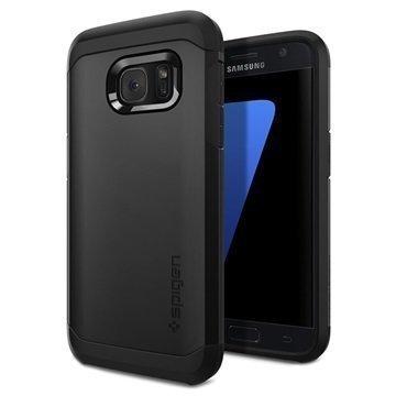 Samsung Galaxy S7 Spigen Tough Armor Kotelo Musta