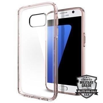 Samsung Galaxy S7 Spigen Ultra Hybrid Suojakuori Rose Crystal