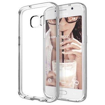 Samsung Galaxy S7 VRS Design Crystal Bumper -Sarjan Kotelo Vaalea Hopea