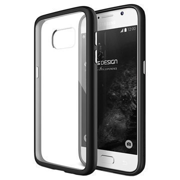 Samsung Galaxy S7 VRS Design Crystal Mixx -Sarjan Kotelo Musta