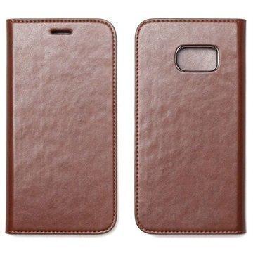 Samsung Galaxy S7 Zenus Basic Diary Kotelo Ruskea