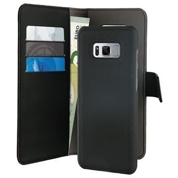 Samsung Galaxy S8+ Puro Detachable 2-in-1 Wallet Case Black