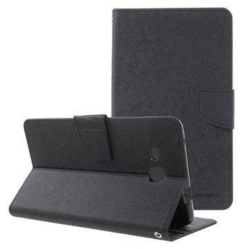 Samsung Galaxy Tab A 7.0 (2016) Mercury Goospery Fancy Diary Wallet Case Black