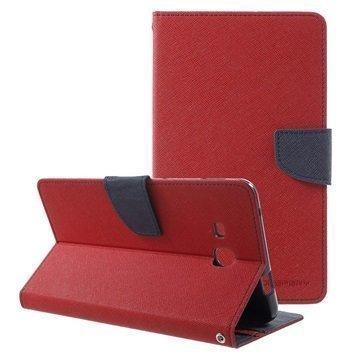 Samsung Galaxy Tab A 7.0 (2016) Mercury Goospery Fancy Diary Wallet Case Red