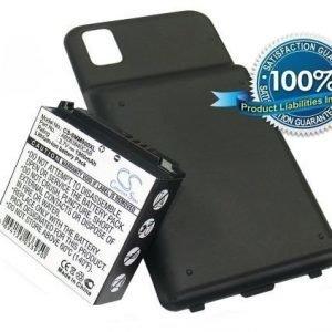 Samsung Instinct M800 M800 SPH-M800 tehoakku laajennetulla takakannella 1900 mAh
