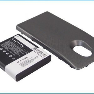 Samsung Nexus 4G LTE tehoakku erillisellä laajennetulla mustalla takakannella 2800 mAh
