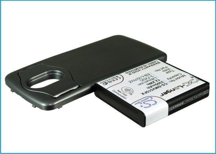 Samsung Nexus 4G LTE tehoakku erillisellä laajennetulla mustalla takakannella 3300 mAh