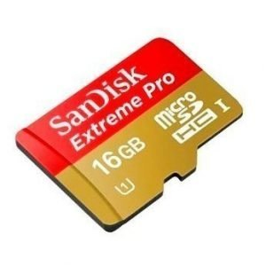 SanDisk Extreme Pro microSDHC 16GB UHS-1 card Class 10