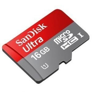 SanDisk Mobile Ultra microSDHC 16GB UHS-1 Card + SD Adapter + Media Manager- Class 10