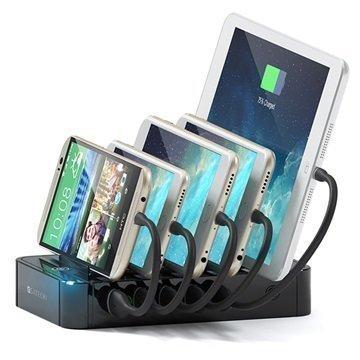 Satechi 5-Porttinen USB-Latausasema Musta