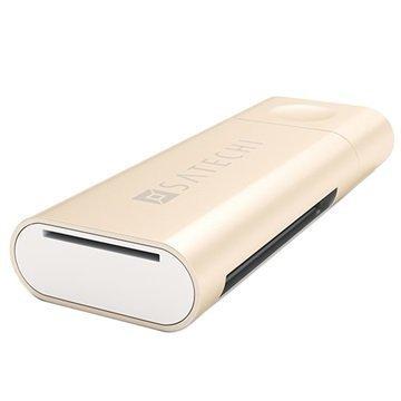 Satechi Alumiini USB C-Tyyppi Kortinlukija Kulta
