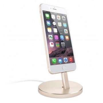Satechi Aluminum Lightning Charging Stand Gold