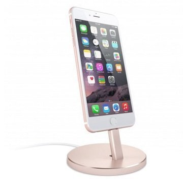 Satechi Aluminum Lightning Charging Stand Rose Gold
