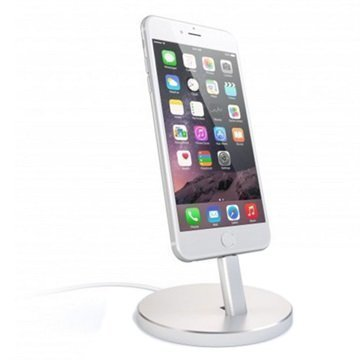 Satechi Aluminum Lightning Charging Stand Silver
