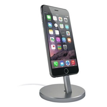 Satechi Aluminum Lightning Charging Stand Space Grey