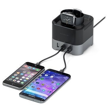 Satechi Smart Charging Stand Black / Space Grey
