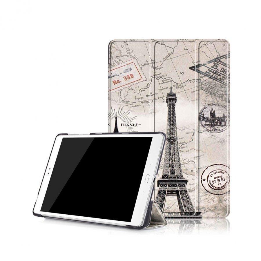 Scherfig Asus Zenpad 3s 10 Nahkakotelo Eiffel Torni Ja Kartta