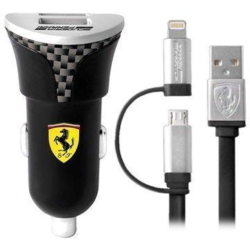Scuderia Ferrari Dual USB Lightning Autolaturi Hiili