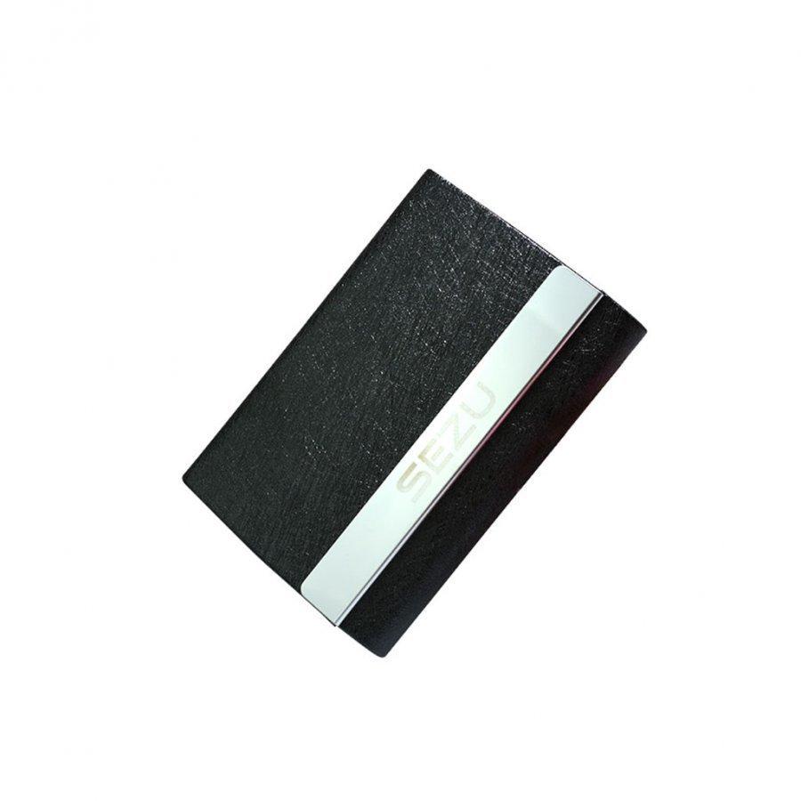 Sezu 1500mah Kaksipuolinen Varavirtalähde Korttitaskuilla Silkki Pintainen / Musta