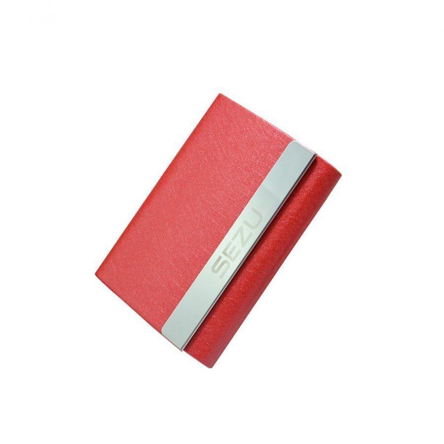 Sezu 1500mah Kaksipuolinen Varavirtalähde Korttitaskuilla Silkki Pintainen / Punainen