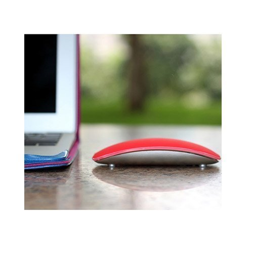 Silikoni Kuori Apple Macbookille Magic Mouse Punainen