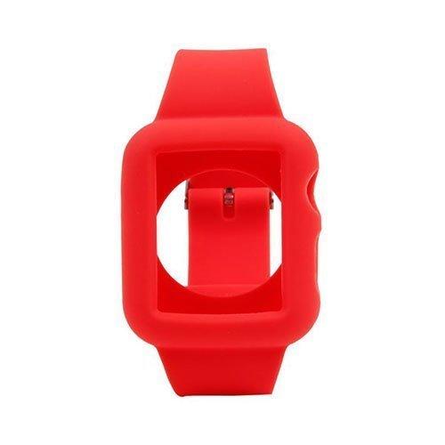 Silikooni Ranneke Apple Kellolle 38mm Punainen