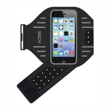 Skech Sports Käsivarsihihna iPhone 5 / 5S / SE / 5C Harmaa / Musta