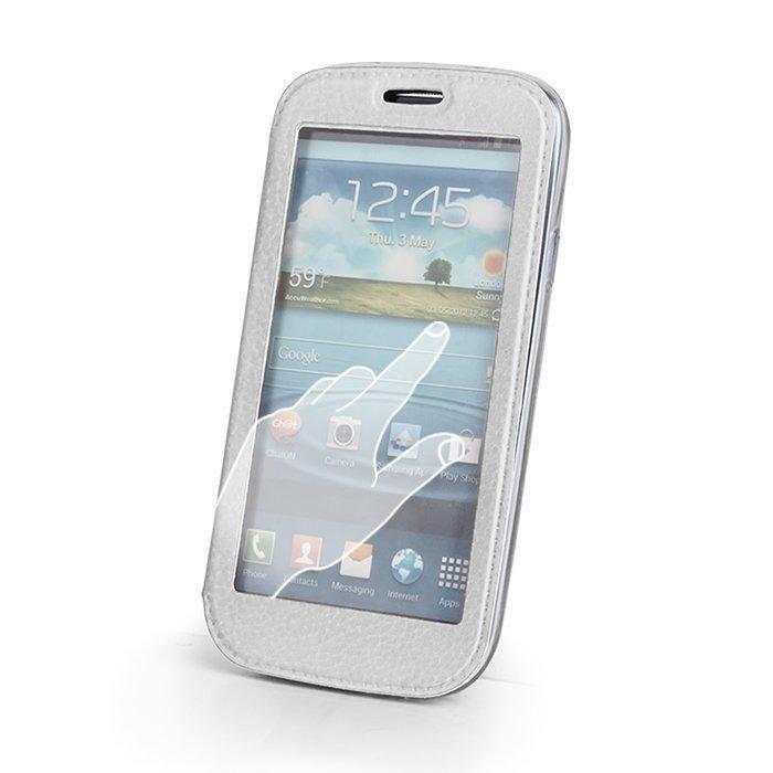 Smart View suojakotelo Samsung Galaxy Core 2 valkoinen