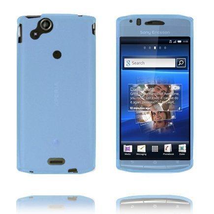 Soft Shell Full Front Vaaleansininen Sony Ericsson Xperia Arc Silikonikuori