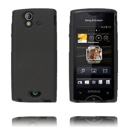Soft Shell Musta Sony Ericsson Xperia Ray Silikonikuori