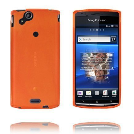 Soft Shell Oranssi Sony Ericsson Xperia Arc Silikonikuori