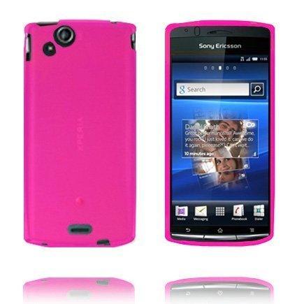 Soft Shell Tummanpinkki Sony Ericsson Xperia Arc Suojakuori