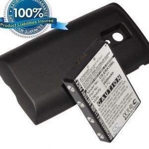 Sony Ericsson Xperia X10 Xperia X10a Xperia X10i tehoakku laajennetulla takakannella 2600 mAh Musta