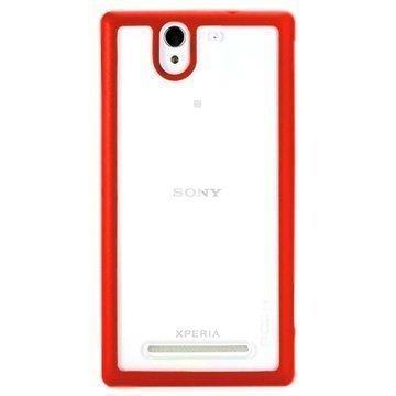 Sony Xperia C3 Xperia C3 Dual Rock Bright Series Kotelo Punainen