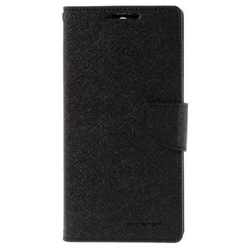 Sony Xperia C5 Ultra Mercury Goospery Fancy Diary Lompakkokotelo Musta