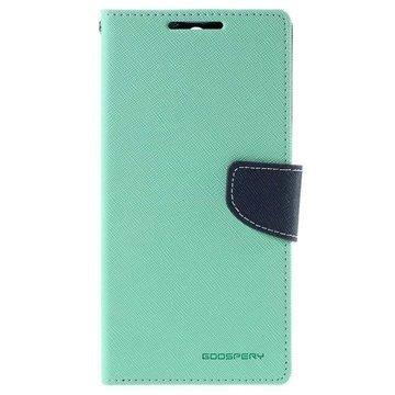 Sony Xperia C5 Ultra Mercury Goospery Fancy Diary Lompakkokotelo Syaani / Tummansininen