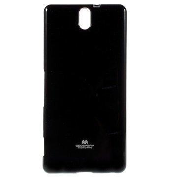 Sony Xperia C5 Ultra Xperia C5 Ultra Dual Mercury Goospery TPU Kotelo Musta