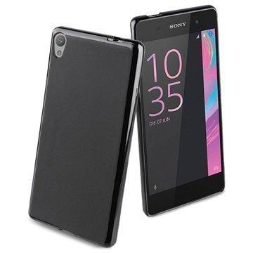 Sony Xperia E5 Roxfit Simple Soft TPU Suojakuori Musta