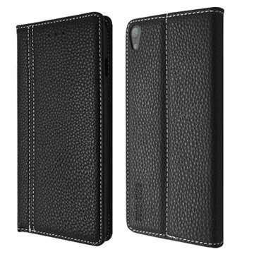 Sony Xperia E5 Star-Case Classic Soft Book Case Black