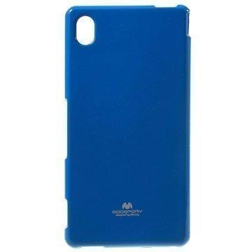 Sony Xperia M4 Aqua M4 Aqua Dual Mercury Goospery TPU Kotelo Tummansininen