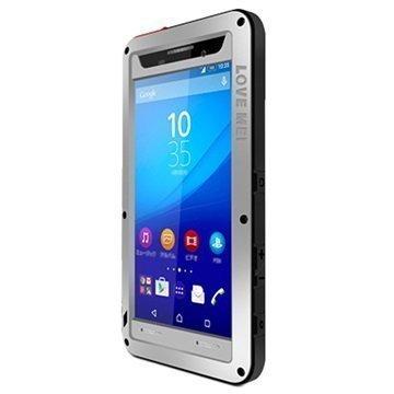 Sony Xperia M5 Xperia M5 Dual Love Mei Powerful Hybrid Suojakuori Hopea